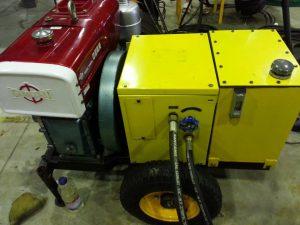 Hydraulic pack and deisel engine